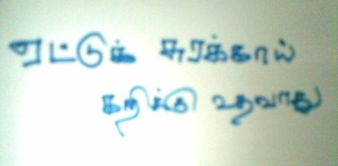 sorakaya proverb