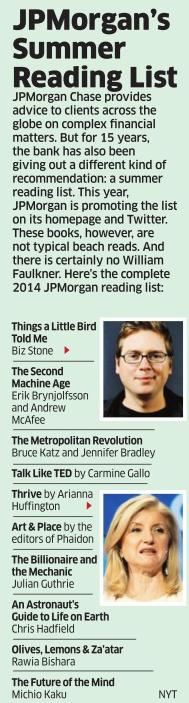 jp morgans summer reading list 2014