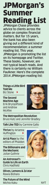 jp morgans summer reading list 2014