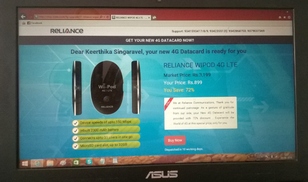 4G Reliance Complaints,Cheating,Scam Wealthymatters review